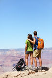 Hikers in Grand Canyon - Hiking couple Stock Photos