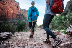 Hikers in the Grand Canyon Royalty Free Stock Photography