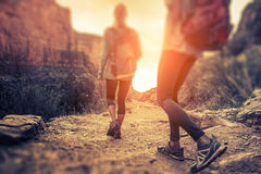Hikers in the Grand Canyon Stock Image