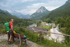 Hikers in Gstatterboden in Austria Royalty Free Stock Image