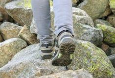 Hikers legs Stock Photo