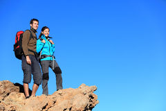 Hikers looking at view Royalty Free Stock Photo