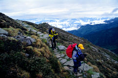 Hikers Mountain stock image