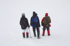 Hikers in a mountain Royalty Free Stock Photo
