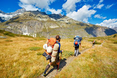 Hikers in the mountains Royalty Free Stock Photography