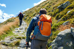 Hikers in the mountains Stock Photo