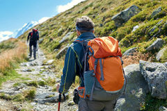 Hikers in the mountains Stock Photography