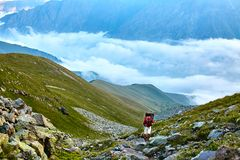 Hikers in the mountains Royalty Free Stock Image