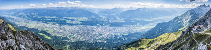 Hikers at Norkette mountain, Innsbruck, Austria. Stock Photo