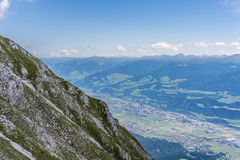 Hikers at Norkette mountain, Innsbruck, Austria. Royalty Free Stock Photo
