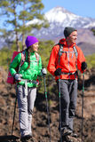 Hikers people hiking - healthy active lifestyle Stock Images