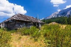 Hikers at Piatra Craiului mountain inn Romania Royalty Free Stock Image