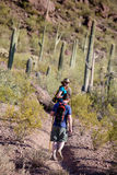 Hikers on Rugged Trail Stock Image
