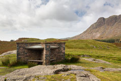 Hikers shelter at Wast Water in lake district Royalty Free Stock Image