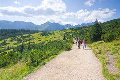 Hikers in Tatra mountains Stock Images