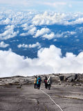 Hikers at the Top of Mount Kinabalu, Sabah, Malaysia Royalty Free Stock Images