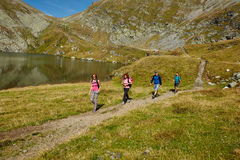 Hikers on a trail Royalty Free Stock Photography