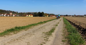 Hikers traveling. In Styria Austria Stock Images