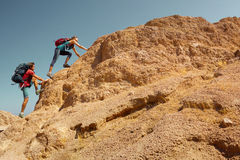 Hikers royalty free stock image