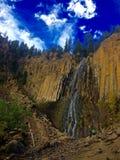 Hikers Walk Past Palisade Falls. In Bozeman, Montana Stock Images