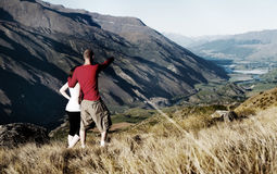 Hikers Walking Mountain Adventure Leisure Concept Royalty Free Stock Photo