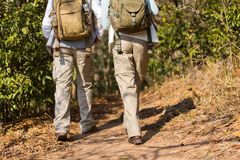 Hikers walking mountain Royalty Free Stock Photography