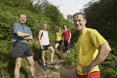 Hikers On Walking Track Royalty Free Stock Image