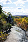 Hikers on a wilderness Ridge Stock Image