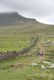 Hikers in the Yorkshire Dales Stock Photography