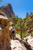 Hikers in Zion Royalty Free Stock Image