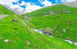 The hikes in Kazbegi Royalty Free Stock Image