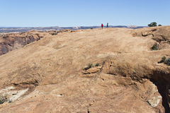 Hikes on Sandstone Dome Stock Images