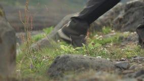 Hiket Making Steps stock footage