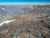Hikin till Vulkanen San Jose Arkivfoto