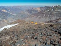 Hikin zum Vulkan San Jose Stockfoto