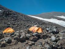 Hikin zum Vulkan San Jose Stockbild
