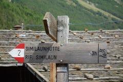 hiking австрийца alps Стоковая Фотография