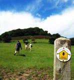 hiking Англии Стоковые Фотографии RF