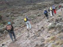 hiking Африки Стоковые Изображения RF