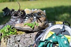 hiking ботинки Стоковые Фото