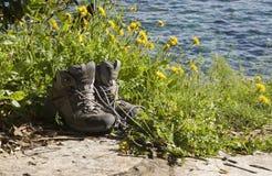 Hiking ботинки стоковые фотографии rf