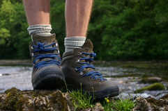 hiking ботинок Стоковые Изображения