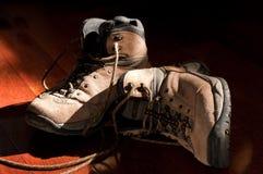 hiking ботинок unlaced Стоковая Фотография RF