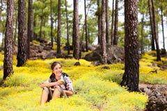 hiking весна Стоковые Фотографии RF
