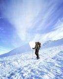 hiking волшебная древесина зимы краткости остальных Стоковые Изображения