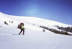 hiking волшебная древесина зимы краткости остальных Стоковое фото RF