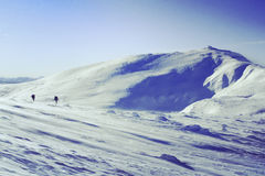 hiking волшебная древесина зимы краткости остальных Стоковые Изображения RF