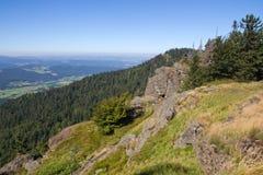 Hiking в баварских горах Стоковые Изображения