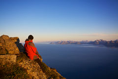 Hiking в Норвегии Стоковое фото RF
