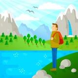 Hiking в природе Стоковая Фотография RF